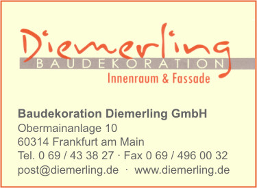Baudekoration Diemerling GmbH